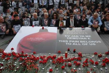 Katledilen Ermeniler için sessiz anma