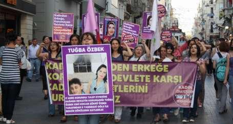 Şiddete karşı kadın yürüyüşü