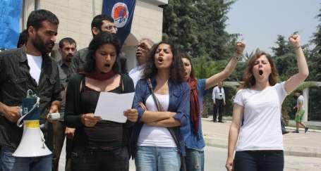MÜ'deki faşist saldırı protesto edildi