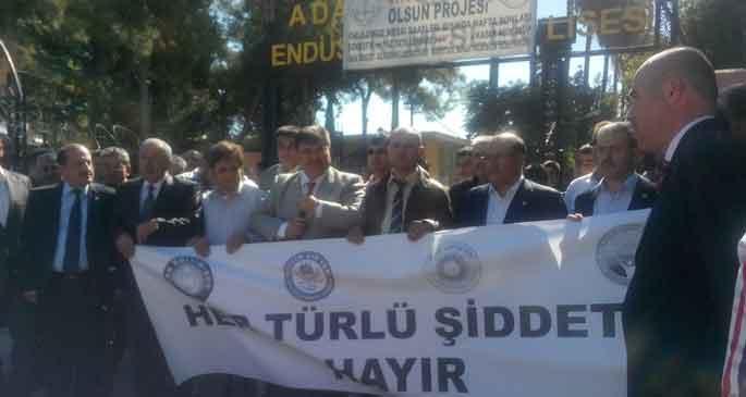 Adana'da öğretmene şiddet kınandı