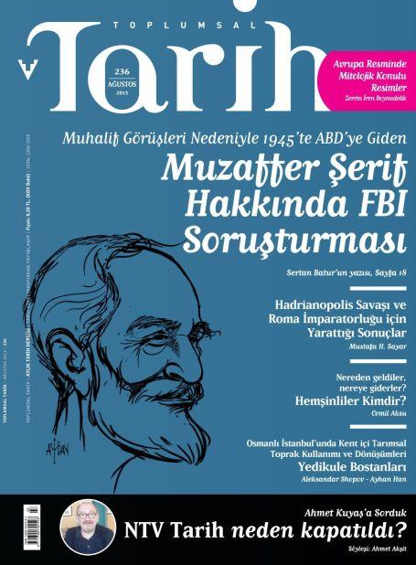 Toplumsal Tarih dergisi ağustos sayısı çıktı