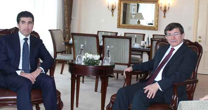 Ahmet Davutoğlu, Neçirvan Barzani ile görüştü