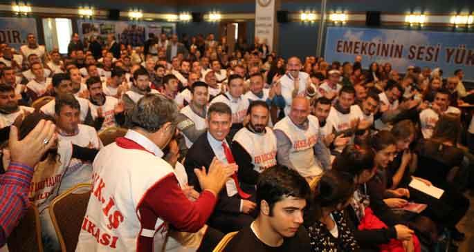 AKP ve Türk-İş yönetimine tepki; birleşik mücadele vurgusu