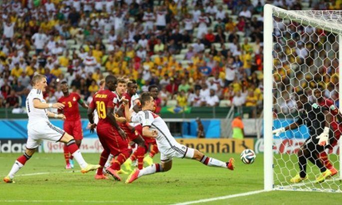 Almanya-Gana maçı nefes kesti