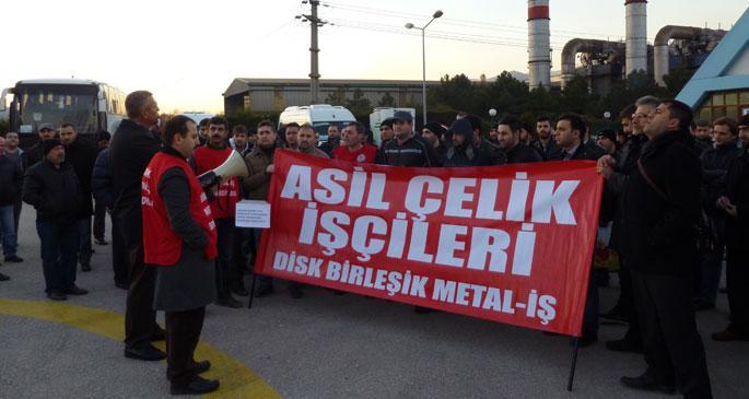 Asil Çelik işçileri 25 kuruş zammı kabul etmiyor