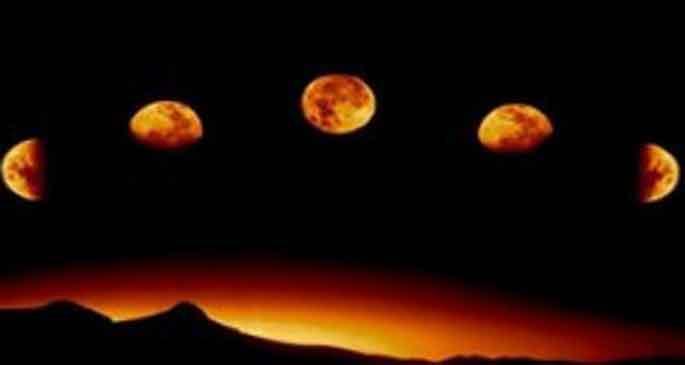 Ay önceden ateş topu muydu?