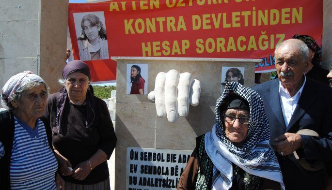 Ayten Öztürk için anıt mezar yapıldı