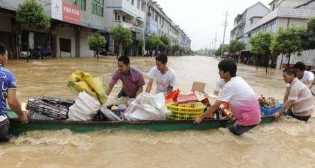 Asya'da sel felaketi can aldı