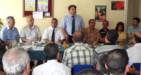 Blok bileşenleri Aydın'da kamu emekçileriyle buluştu