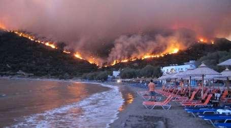Sakız Adası'nda zarar büyük