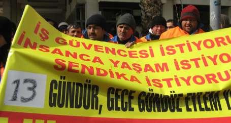 Konak'ta taşeronlaşmaya karşı işçiler direnişte!