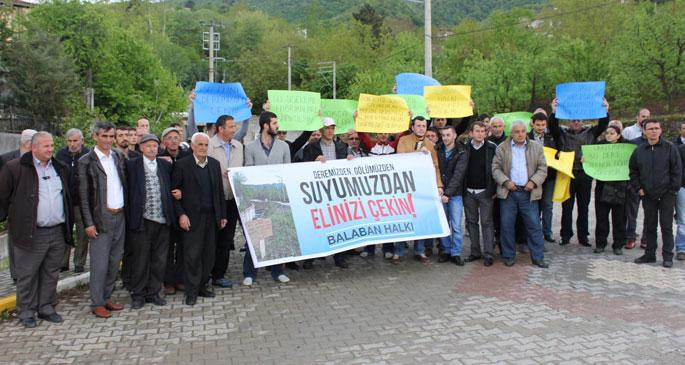 Balaban halkından su firmaları ve belediyeye tepki