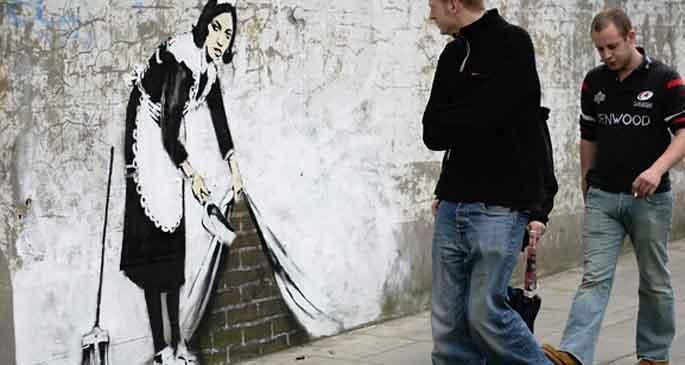 Banksy'nin çizimlerine sabotaj