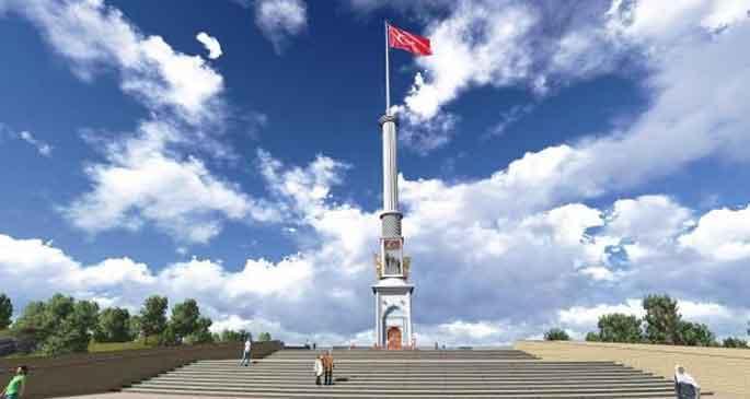Barış anıtını söktüler, savaş anıtı dikecekler