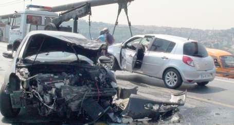 Boğaziçi Köprüsünde kaza trafiği
