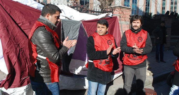 BEDAŞ işçileri çadır kurdu