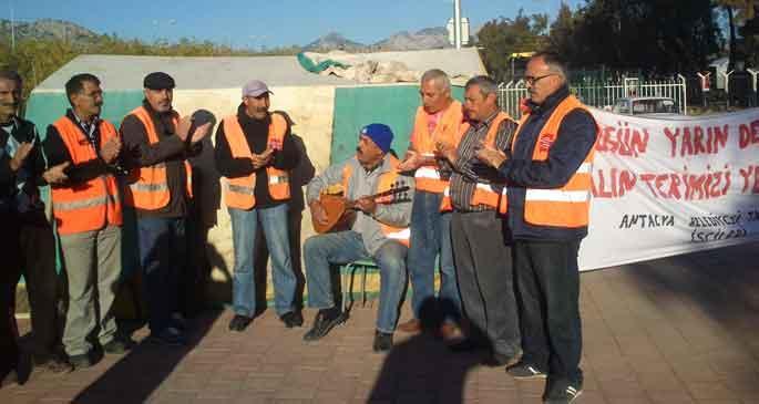 Belediye işçilerinin direnişi sürüyor