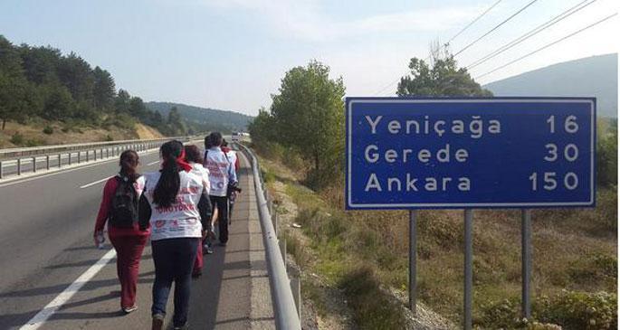 Beyaz bayraklarıyla Aleviler Ankara'da