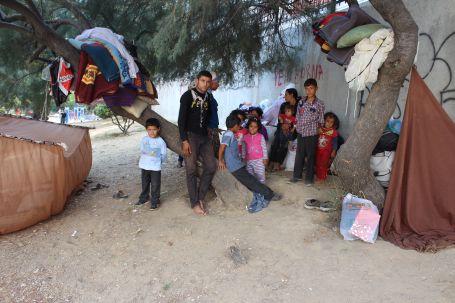 Suriyeli mülteciler parklarda yaşıyor