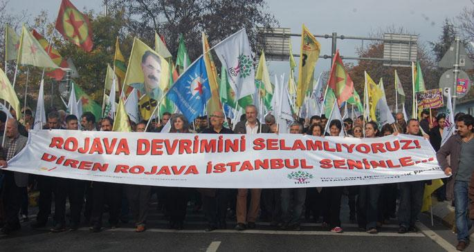 Binler Rojava için Kadıköy\