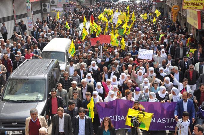 Bölgede binler seçim hilelerine karşı yürüdü