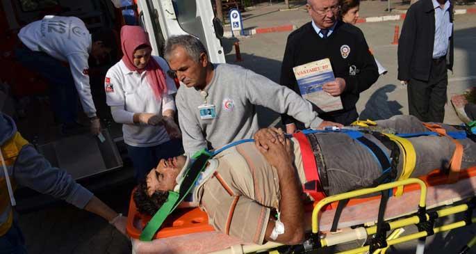 Bursa\'da inşaattan düşen işçi, ağır yaralandı