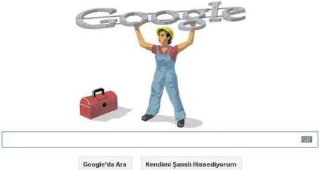 Google'ın 1 Mayıs logosu