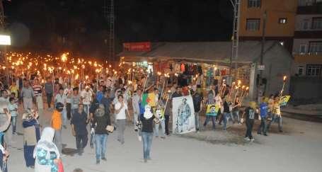 Pek çok merkezde 15 Ağustos eylemleri yapıldı