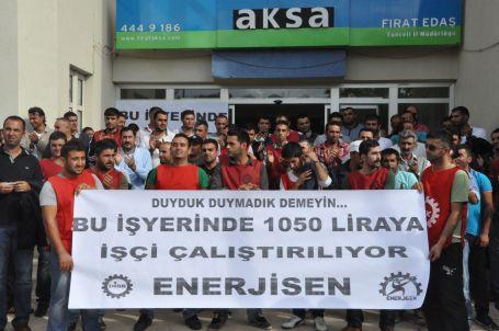 Dersim'de FEDAŞ işçileri grevde