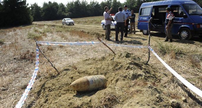 Çanakkale\'de patlamamış top mermisi bulundu