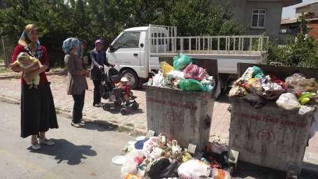 Kayseri'de çöp rezaleti