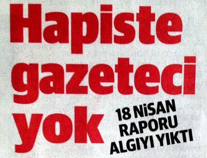 Cezaevinde mi daha fazla gazeteci var, Yeni Şafak\
