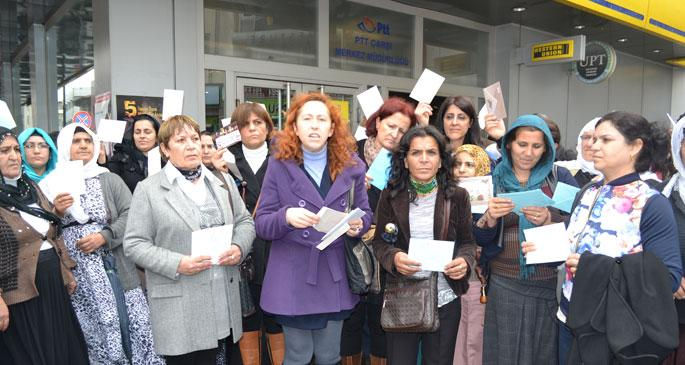 Cezaevindeki kadınlara dayanışma kartı