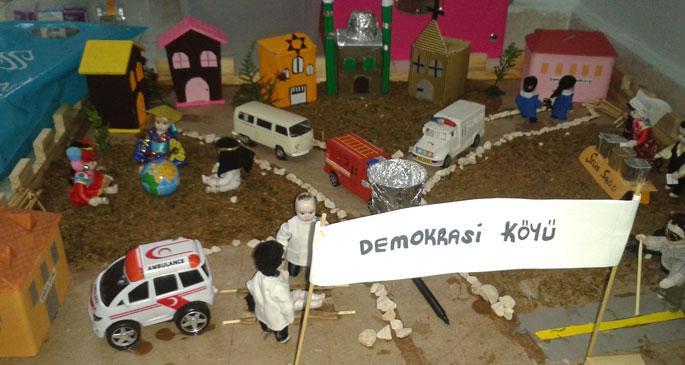 Çocuklar için 'demokrasi koridoru'
