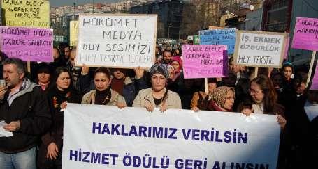 Hey Tekstil işçileri AKP önündeydi