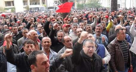 İzenerji işçisi grev kararını astı