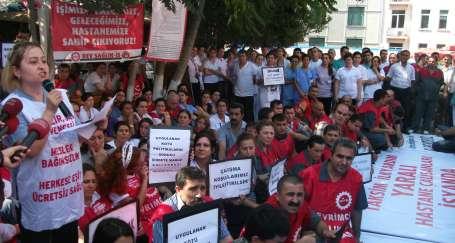 Hekime yönelik şiddete protesto