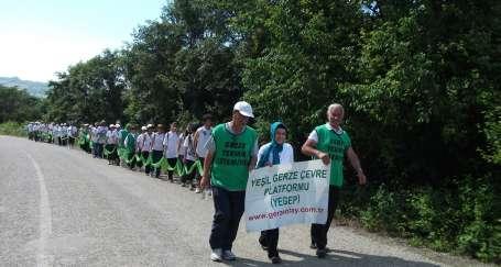 Yeşil Gerze için yürüdüler