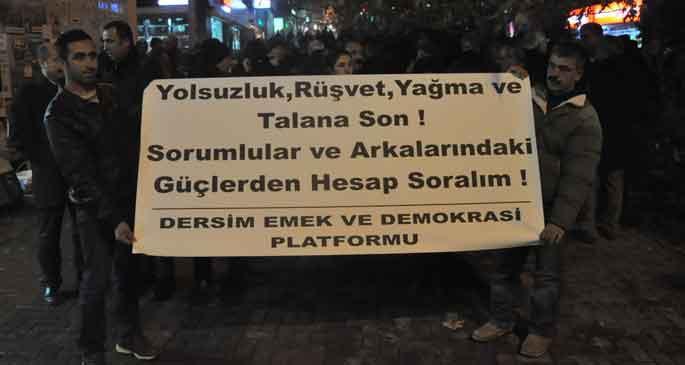 Dersim\'de AKP\'ye yolsuzluk tepkisi