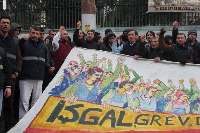 Direnişteki Greif işçileri : Her yeri eylem alanına çevireceğiz