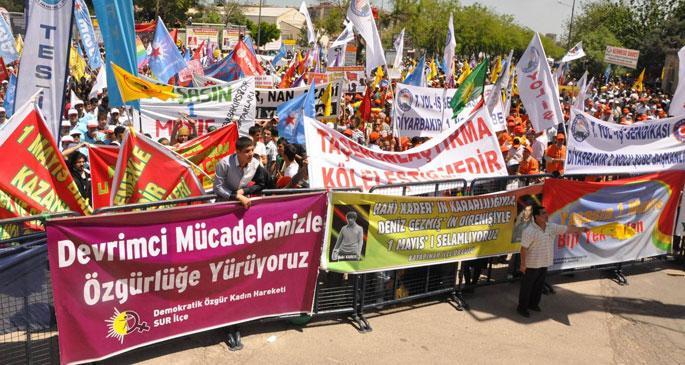 Diyarbakır'da taşerona karşı 1 Mayıs