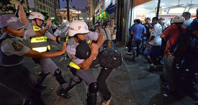 Dünya Kupası karşıtı eylemde 262 gözaltı
