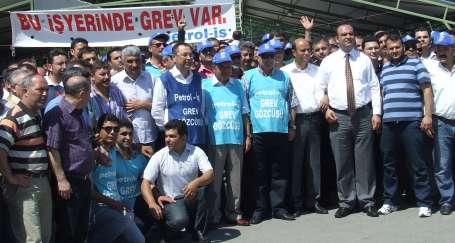 Kromsan ve Soda Sanayi işçileri greve çıktı