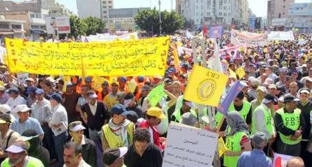 Fas'ın AKP'sine protesto