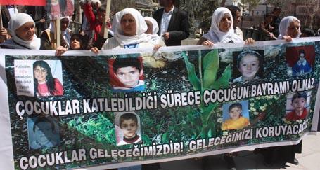 'Katledilen çocukların bayramı olmaz'