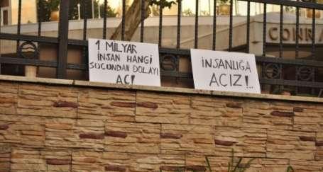 Lüks otel iftarlarına protesto