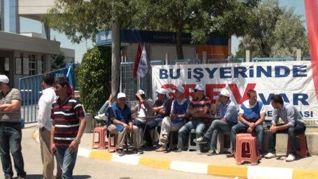 Cam Ambalaj işçileri grevde
