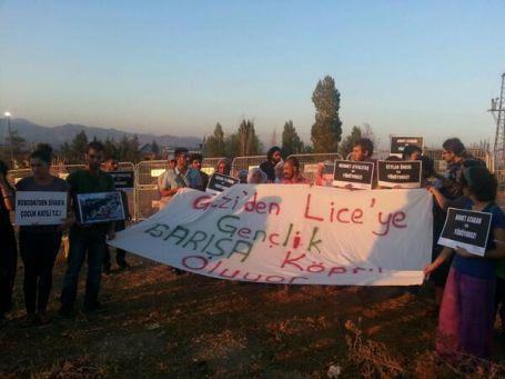 Gençlik Dayanışması üyeleri Kayacık Karakolu'na yürüdü