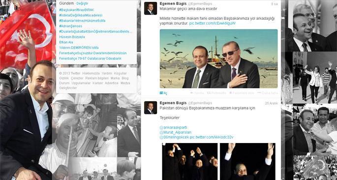 Egemen Bağış, Twitter\