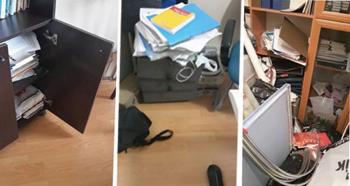 EMEP binasında şüpheli hırsızlık